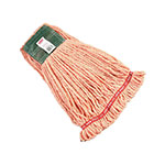"Rubbermaid FGA25306 OR00 Large Wet Mop Head - 5"" Headband, 4-Ply Cotton/Synthetic Blend, Orange"