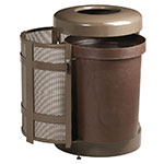 Rubbermaid FGA38TSDABZPL 38-gal Architek Waste Receptacle - Drop-In Top, Bronze/Sand