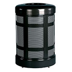 Rubbermaid FGA38TSDBKPL 38-gal Architek Waste Receptacle - Drop-In Top, Black/Anthracite