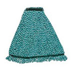 "Rubbermaid FGA81306GR00 Large String Mop Head - 1"" Headband, Microfiber/Yarn Blend, Green"