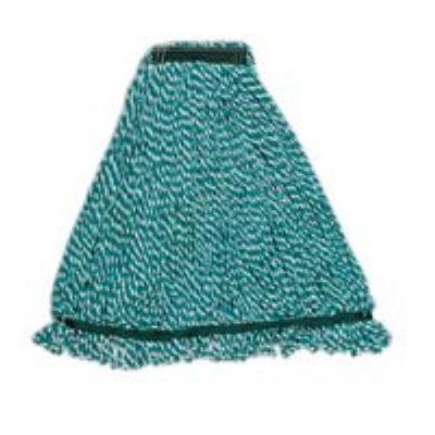"Rubbermaid FGA81306GR00 Large String Mop Head - 1"" Headband, Microfiber/Yarn Blend, Green"