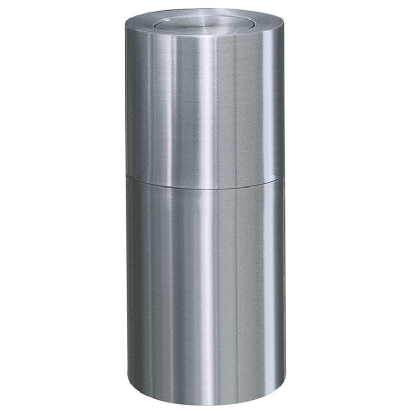Rubbermaid FGATF18SA 18-gal Indoor Decorative Trash Can - Metal, Satin Aluminum