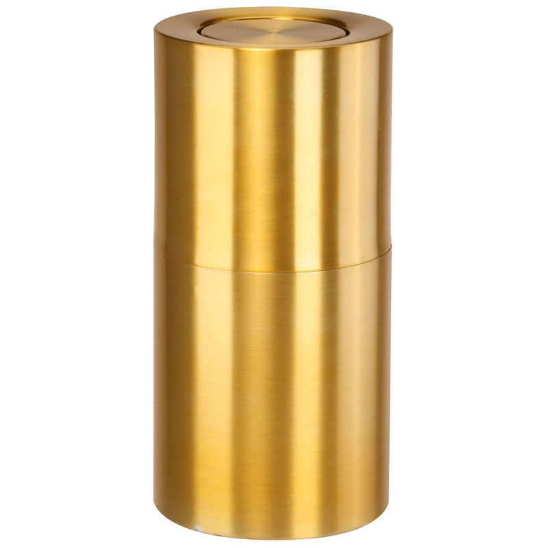 Rubbermaid FGATF18SB 15-gal Indoor Decorative Trash Can - Metal, Satin Brass Aluminum
