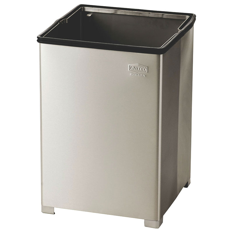 Rubbermaid FGB1424SSRB 24-gallon Commercial Trash Can - Metal, Square