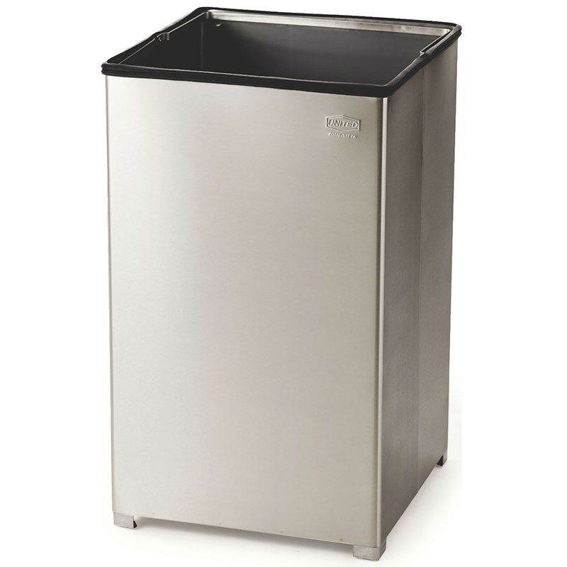 Rubbermaid FGB1940SSRB 40-gallon Commercial Trash Can - Metal, Square