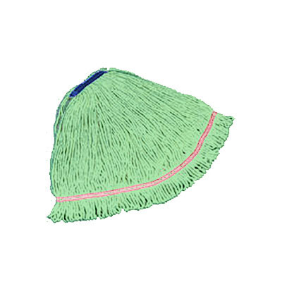 "Rubbermaid FGC21406 GR00 Looped-End X-Large Mop Head - 1"" Headband, 4-Ply Cotton/Synthetic, Green"