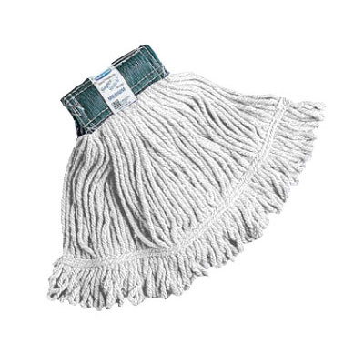 """Rubbermaid FGD21406WH00 Super Stitch X-Large Mop Head - 1"""" Headband, 4-Ply Cotton/Synthetic, White"""