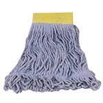 "Rubbermaid FGD25106 BL00 Super Stitch Small Mop Head - 5"" Headband, 4-Ply Cotton/Synthetic, Blue"