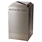 Rubbermaid FGDCR24P SS 29-gal Cans Recycle Bin - Indoor, Decorative
