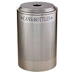 Rubbermaid FGDRR24C SS 26-gal Silhouette Round Recycling Container - Cans/Bottles, Stainless Steel