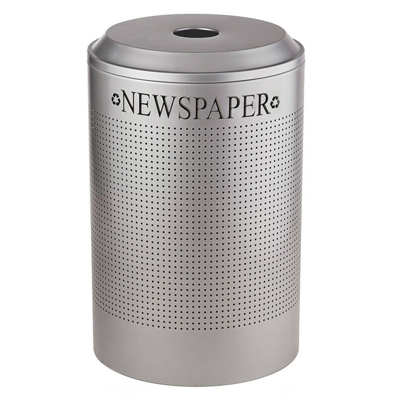Rubbermaid FGDRR24P SM 26-gal Cans Recycle Bin - Indoor, Decorative