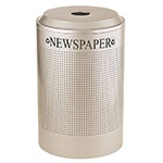 Rubbermaid FGDRR24P SS 26-gal Cans Recycle Bin - Indoor, Decorative