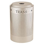 Rubbermaid FGDRR24T SS 26-gal Silhouette Round Recycling Container - Trash, Stainless Steel