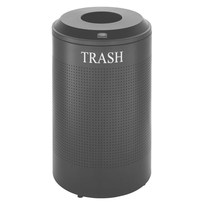 Rubbermaid FGDRR24T TBK 26-gal Cans Recycle Bin - Indoor, Decorative