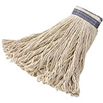 Rubbermaid FGE13900 WH00 32-oz Looped-End Mop Head - Cotton, White