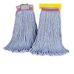 Rubbermaid FGE23600BL00 16-oz Looped-End Mop Head - Cotton/Synthetic, Blue