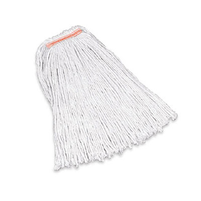 "Rubbermaid FGF11800WH00 24-oz Premium Mop Head - 1"" Headband, 4-Ply Cotton, White"