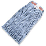 "Rubbermaid FGF51800 BL00 24-oz Premium Mop Head - 1"" Headband, 4-Ply Cotton/Rayon/Synthetic, Blue"