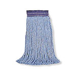 "Rubbermaid FGF55900BL00 32-oz Premium Mop Head - 5"" Headband, 4-Ply Cotton/Rayon/Synthetic, Blue"
