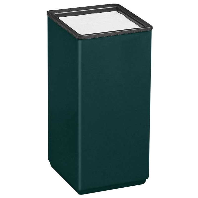"Rubbermaid FG1020SQSUHGN 10"" Square Sand Urn - 20"" H, Fiberglass, Hunter Green"