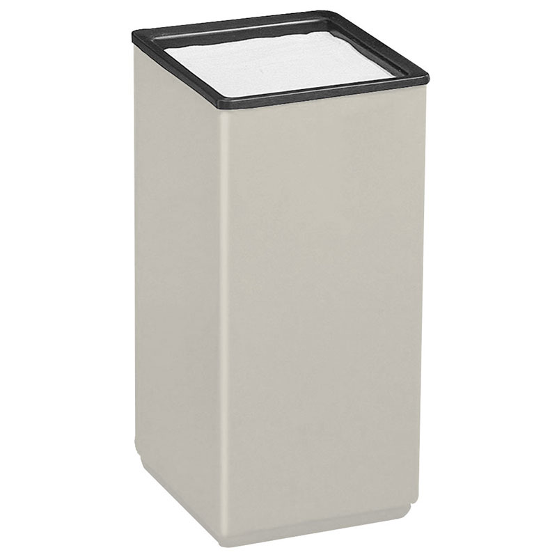 "Rubbermaid FG1020SQSULGR 10"" Square Sand Urn - 20"" H, Fiberglass, Light Gray"