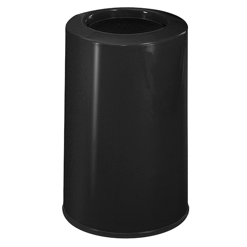 Rubbermaid FG1219LOPLBK 6-1/2-gal Waste Receptacle - Fiberglass, Black
