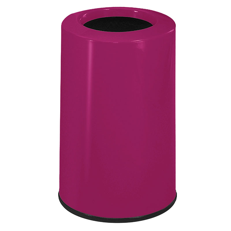 Rubbermaid FG1219LOPLBPM 6-1/2-gal Waste Receptacle - Fiberglass, Bright Plum