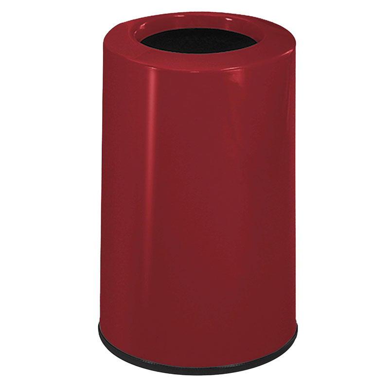 Rubbermaid FG1219LOPLBY 6-1/2-gal Waste Receptacle - Fiberglass, Burgundy