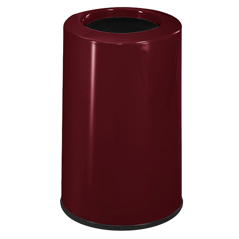 Rubbermaid FG1219LOPLBYW 6-1/2-gal Waste Receptacle - Fiberglass, Burgundy Wine
