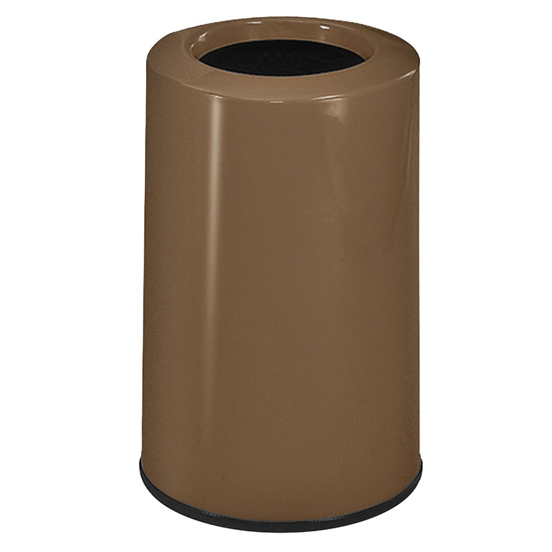 Rubbermaid FG1219LOPLBZ 6-1/2-gal Waste Receptacle - Fiberglass, Bronze
