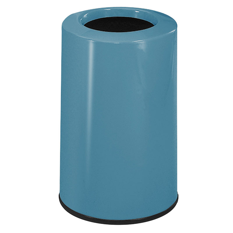 Rubbermaid FG1219LOPLCBL 6-1/2-gal Waste Receptacle - Fiberglass, Country Blue