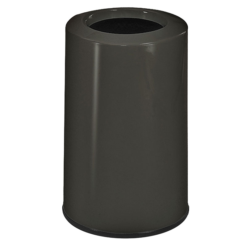 Rubbermaid FG1219LOPLCH 6-1/2-gal Waste Receptacle - Fiberglass, Charcoal
