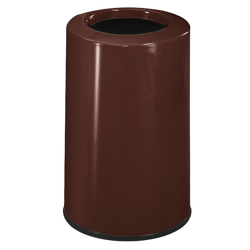 Rubbermaid FG1219LOPLDBN 6-1/2-gal Waste Receptacle - Fiberglass, Dark Brown