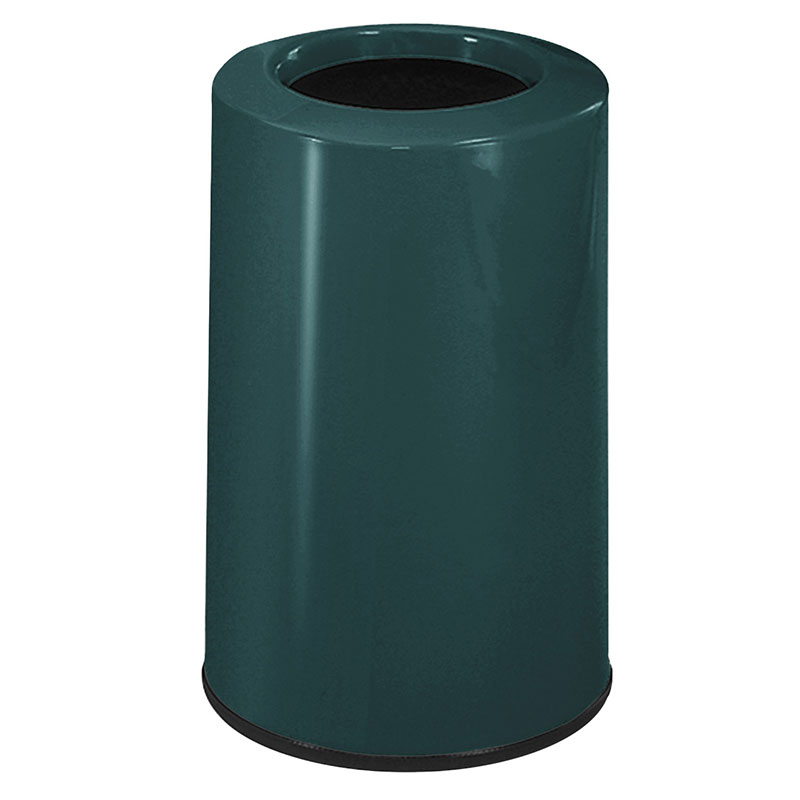 Rubbermaid FG1219LOPLHGN 6-1/2-gal Waste Receptacle - Fiberglass, Hunter Green