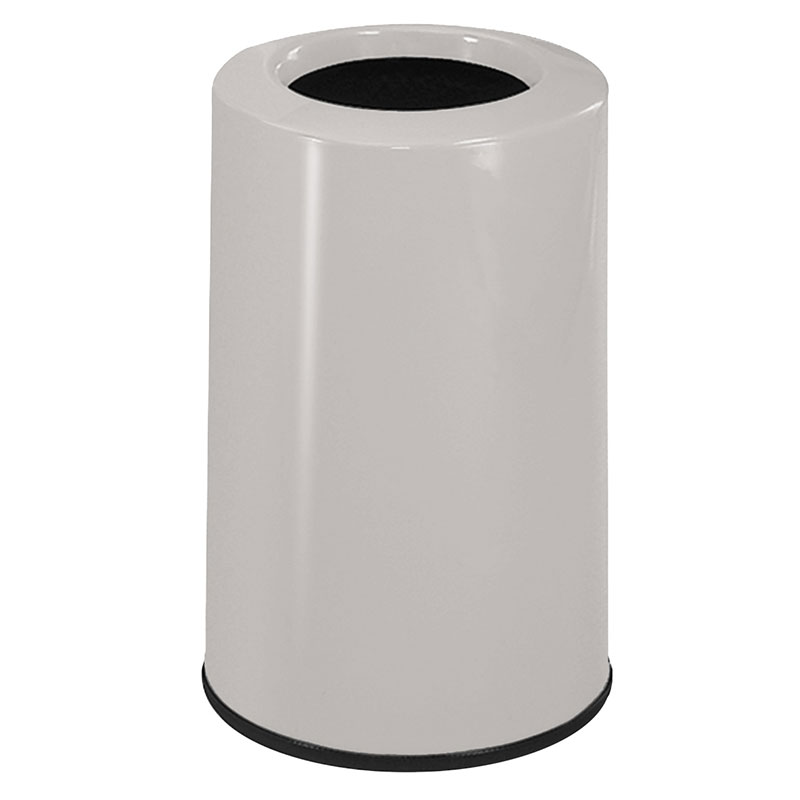 Rubbermaid FG1219LOPLLGR 6-1/2-gal Waste Receptacle - Fiberglass, Light Gray