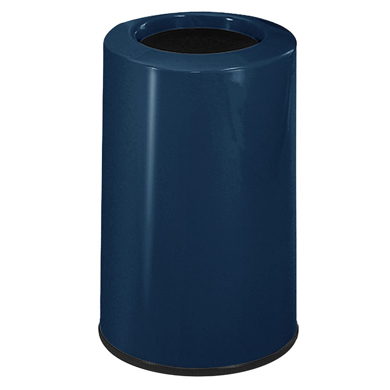 Rubbermaid FG1219LOPLNBL 6-1/2-gal Waste Receptacle - Fiberglass, Navy Blue
