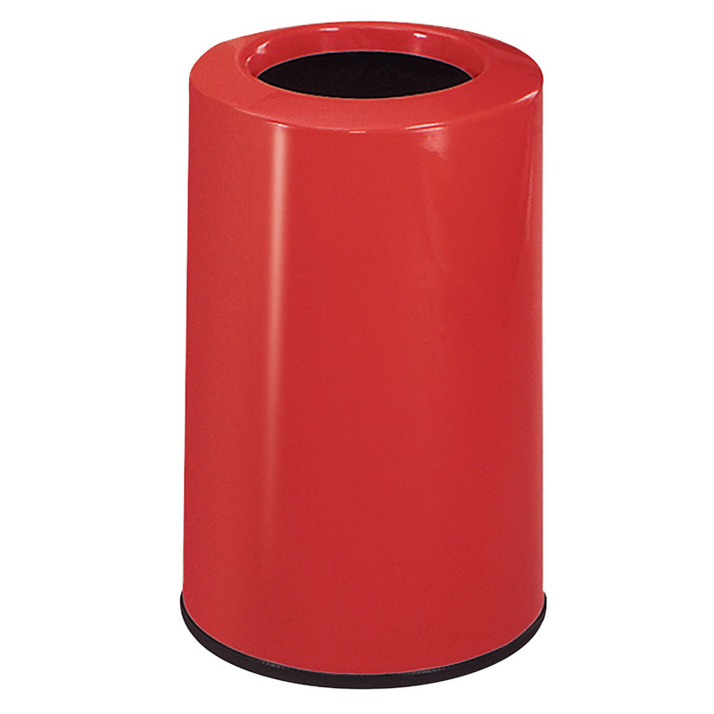 Rubbermaid FG1219LOPLRD 6-1/2-gal Waste Receptacle - Fiberglass, Red