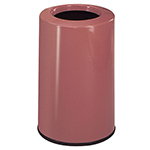 Rubbermaid FG1219LOPLRS 6-1/2-gal Waste Receptacle - Fiberglass, Rose