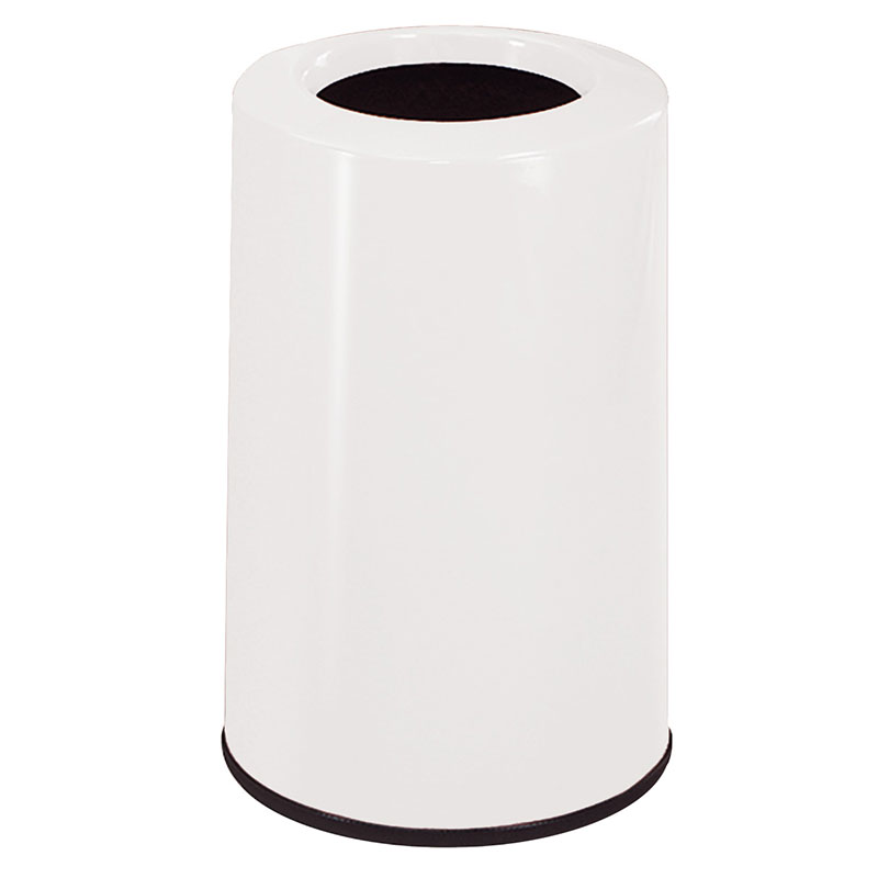 Rubbermaid FG1219LOPLWH 6-1/2-gal Waste Receptacle - Fiberglass, White