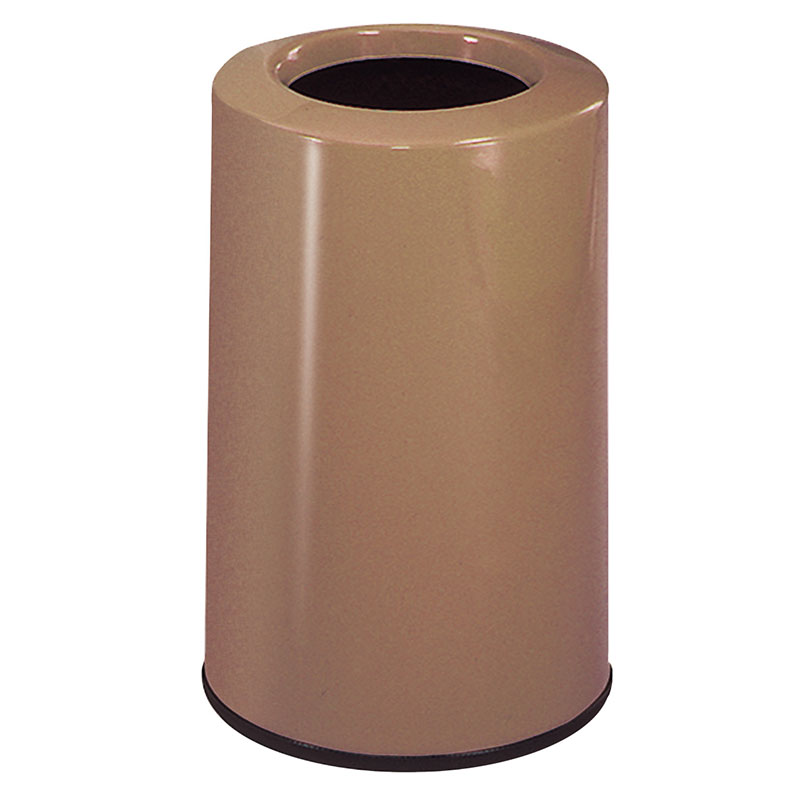 Rubbermaid FG1219LOPLWMB 6-1/2-gal Waste Receptacle - Fiberglass, Warm Brown