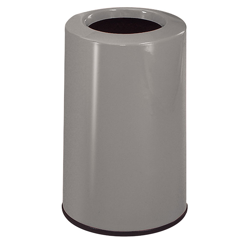 Rubbermaid FG1219LOPLWMG 6-1/2-gal Waste Receptacle - Fiberglass, Warm Gray