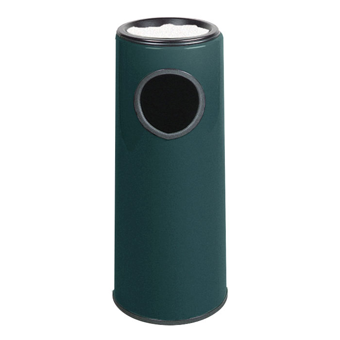 Rubbermaid FG1227FTPLHGN 6-1/2-gal Ash/Trash Receptacle - Funnel Top, Fiberglass, Hunter Green