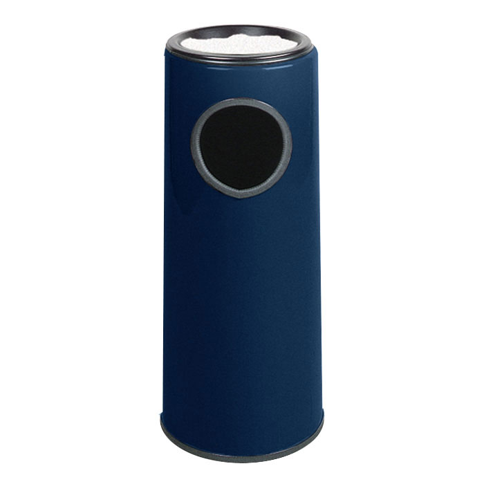 Rubbermaid FG1227FTPLNBL 6-1/2-gal Ash/Trash Receptacle - Funnel Top, Fiberglass, Navy Blue