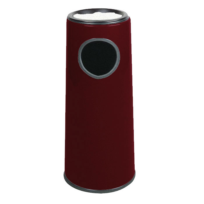 Rubbermaid FG1227SUPLBYW 6-1/2-gal Ash/Trash Receptacle - Sand Urn Top, Fiberglass, Burgundy Wine
