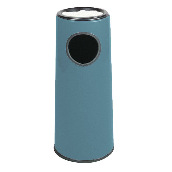 Rubbermaid FG1227SUPLCBL 6-1/2-gal Ash/Trash Receptacle - Sand Urn Top, Fiberglass, Country Blue