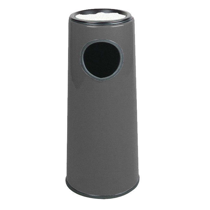 Rubbermaid FG1227SUPLCH 6-1/2-gal Ash/Trash Receptacle - Sand Urn Top, Fiberglass, Charcoal