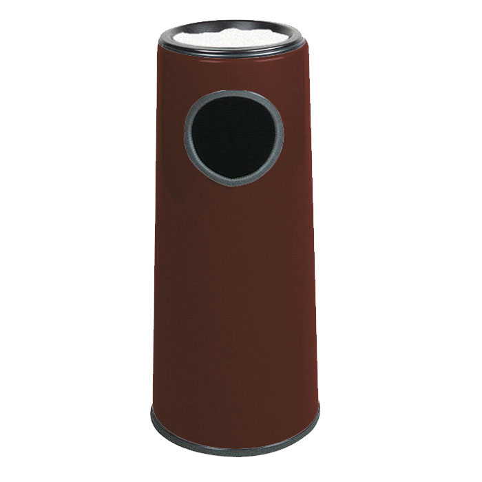 Rubbermaid FG1227SUPLDBN 6-1/2-gal Ash/Trash Receptacle - Sand Urn Top, Fiberglass, Dark Brown