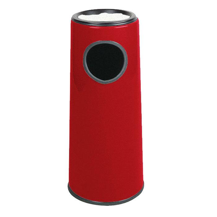 Rubbermaid FG1227SUPLRD 6-1/2-gal Ash/Trash Receptacle - Sand Urn Top, Fiberglass, Red