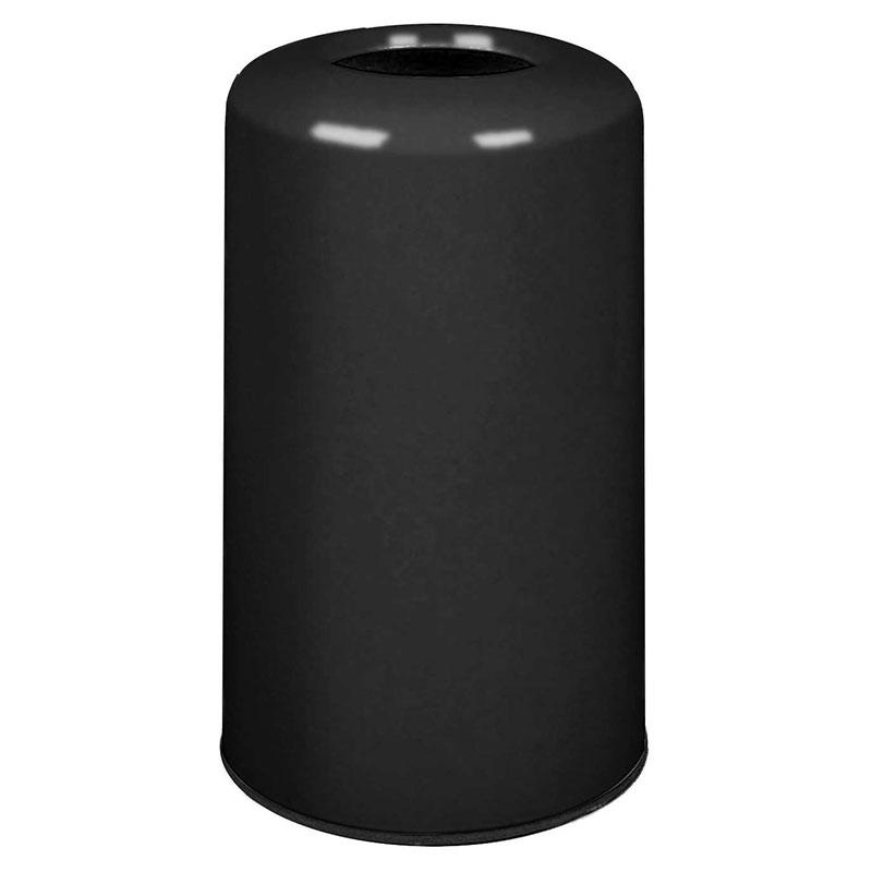 Rubbermaid FG1628LOPLBK 15-gal Waste Receptacle - Fiberglass, Black