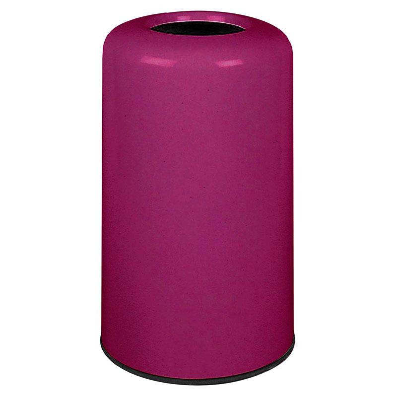 Rubbermaid FG1628LOPLBPM 15-gal Waste Receptacle - Fiberglass, Bright Plum